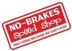 Funny NO BRAKES SPEED SHOP Design For Rat Look VW Vinyl Car sticker decal 145x69mm